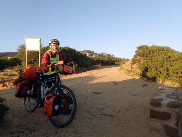 Bodo Schnoor und sein Fahrrad in Spanien