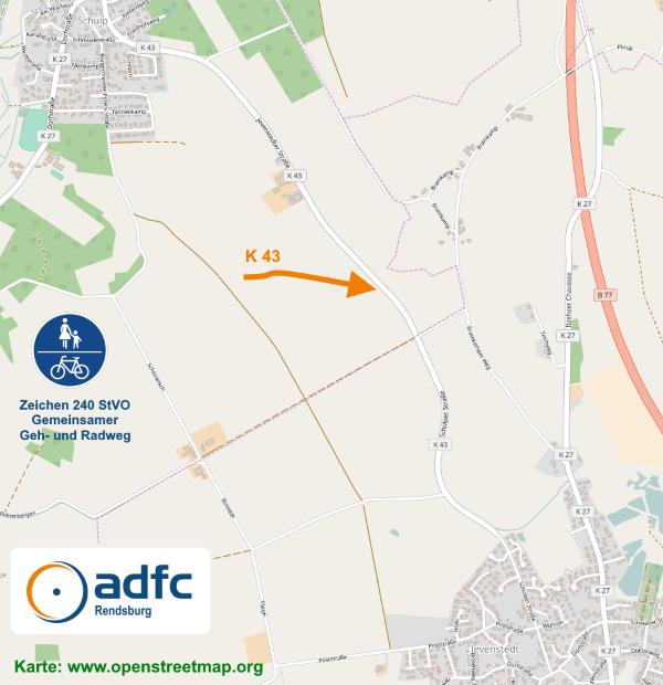 Karte K 43 openstreetmap.org